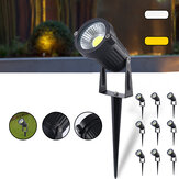 10pcs 5W LED Waterproof Spotlights Landscape Lights Walkway Outdoor Garden