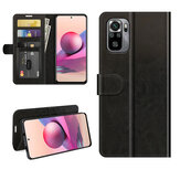 Bakeey for Xiaomi Redmi Note 10/Redmi Note 10S Case Magnetic Flip with Multiple Card Slot Foldable Stand PU Leather Shockproof Full Cover Protective Case Non-Original