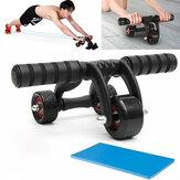 3 Rodas Roda Abdominal Rolete + Joelheira + Rolha de Chão Treinamento Muscular Casa Academia Aptidão Equipamentos