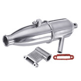 Aluminum Upgrade Exhaust Pipe 02124 for 1/10 HSP Nitro RC Car Parts