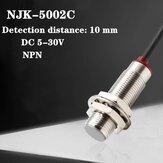 ZJZDDQ Interruttore di prossimità sensore Hall NJK-5002C DC a tre fili NPN Sonda sensore di induzione magnetica normalmente aperta
