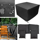 Outdoor Patio Meble ogrodowe Wodoodporna osłona 210D Oxford Rain Dust Table Chair Protector Shelter