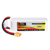 ZOP Power 11.1V 2200mAh 3S 20C Lipo Batteri XT60-stik til Eachine Wizard X220 FPV Racing RC Drone