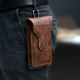 Original              Hombres Faux Leather Universal Vertical 6.5inch Phone Pouch Cinturón Clip Holster Waist Bolsa