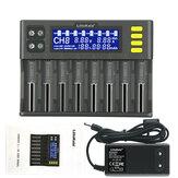 LiitoKala Lii-S8 8 slots LCD Display 9V Carregador rápido Smart Bateria Carregador para íon-lítio LiFePO4 Ni-MH Ni-Cd 9V 21700 20700 26650 18650 RCR123 18700