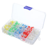 500Pcs 3MM LED Diode Kit Mixed Color Red Green Yellow Blue White with Box