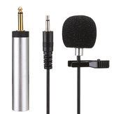 Erzhen S318 Lavalier Clip-on Cardioid Capacitância Microfone Com Fio para Amplificador Mixer