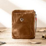 Men Genuine Leather Vintage Coin Bag Wallet Key Bag Coin Purse