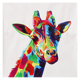Frameless Wall Decorative Paintings Color Giraffe Canvas Print Art Pictures Wall Hanging Decor for Home Office