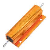 RX24 100W 12R 12RJ Metal Aluminum Case High Power Resistor Golden Metal Shell Case Heatsink Resistance Resistor