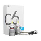 C6-COBLEDFarlarAmpulSis Lamba H1 H3 H4 H7 H8/H9/H11 9005/9006 72W 7600LM 6000K Beyaz 2 ADET Araba Motor için