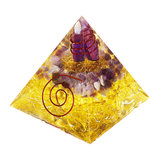 Himalayas Stone Orgone Pyramid Energy Generator Tower Home Reiki Healing Crystal Room Decorations
