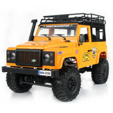 MN90 1/12 2.4G 4WD RC Car w/ Front LED Light 2 Body Shell Roof Rack Crawler Off-Road Truck RTR Toy