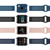 [Medição de temperatura] Bakeey P29 Coração Monitor de oxigênio e pressão arterial Pressão arterial Tela cheia Touch Music Control Smart Watch