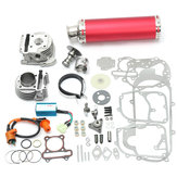 100cc 50mm Scooter chinois Big Bore Exhaust Performance Kit Puissance Pack GY6 50cc
