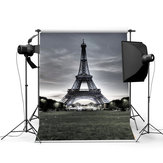 3x5FT Vinyl Eiffel Tower Background Photo Studio Prop Photography backdrop
