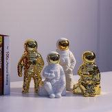 Gốm Space Man Điêu khắc phi hành gia Cosmonaut Vase Trang trí Tượng Tiền Pot