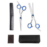 5pcs Professional Hairdressing Set 7'' Hair Scissors Barber Hair Cutting Thin Salon Set