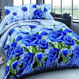 4Pcs 3D Blue Enchantress Printed Bedding Sets Quilt Cover Bed Sheet Pillowcases