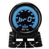 2インチ52 mm車のメーター20-120℃10色LEDデジタル水温ゲージ