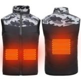 Kind Kid Elektrisch Verwarmd Vest USB Winter Warmer Jas Outdoor Intelligente Kleding Mouwloze Katoenen Jassen