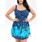 5XL One-Piece Back Strap Women Swimdress