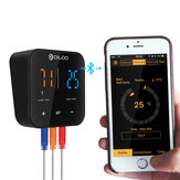 Digoo DG FT2303 Three Channels ذكي Bluetoorh BBQ Thermometer Kitchen Cooking Thermometer