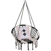 Cadeira de rede Suspensa Corda Balanço de Malha de Malha Corda Balanço de Cadeira de Algodão Balanço de Carga Máxima de 330 lb para Jardim de Casa Ao Ar Livre