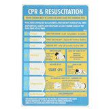 Plástico CPR & Ressuscitação 600x400mm Carta DRSABC Piscina Spa Sinal de Segurança Adesivo de Parede