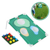 Golf Chipping Practice Board With Net Golf Pitching Cages Mats Kit Set Golf Training Aids for Indoor Outdoor