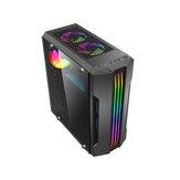 USB 3.0 ATX / m-Atx / ITX تشديد الزجاج الكمبيوتر RGB حالة خمسة مراوح الهواء
