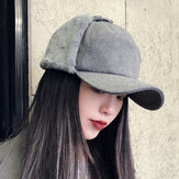 Women Winter Warm Adjustable Earmuffs Baseball Cap