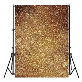 3X5ft Vinyl Golden Glitters Fond d'écran de fond Photo Studio Prop