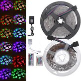 DC12V 2835SMD 5M 300LED Light Strip Lampe RGB non étanche étanche + 24/44 clé IR Controller + Power Adapter