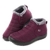 LOSTISY impermeável com forro quente inverno neve tornozelo botas femininas casuais