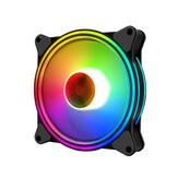 Coolmoon 12cm RGB LED Multicolor-mode Quiet Chassis Fan Computer PC Cooler Cooling Fan for PC Case
