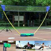 3 em 1 Sport ao ar livre Badminton Tennis Volleyball Net Stand Portátil Stand Battledore Set