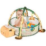 Pelota marina 3 en 1 Piscina Valla Alfombra de juego para bebés y bebés Alfombra de gateo Actividad de patadas Gym Alfombra de juego para gatear