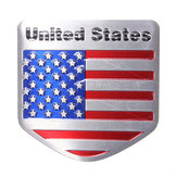 USA Flag Metal Auto Refitting Car Badge Emblem Decal Sticker