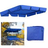 2/3 حجم مقعد أزرق مقاوم للأشعة فوق البنفسجية في الهواء الطلق حديقة فناء سوينغ غطاء ظلة ضد للماء غطاء علوي لمقعد المظلة