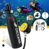 DCCMS 1L zestaw butli do nurkowania zbiornik powietrza pompa ręczna zawór oddechowy pływanie na świeżym powietrzu Snorkeling oddech sprzęt do nurkowania