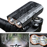 XANES DL06 1200LM 2T6 150° Large Floodlight 6000mAh Battery Bike Light 4 Modes USB Rechar