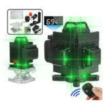 110-220V 4D 16 Lines Laser Level Green Light Level with Remote Control Waterproof Measuring Tool