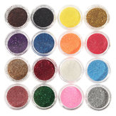 16 couleurs Oeil à l'ombre Pigment Glitter Powder Spangle Set Nail Art Décoration DIY Bling Party Shimmer Maquillage