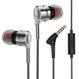 PTM M6 Metal Earphone 3.5mm Wired Control Earphone Stereo Headphone with Mic for iPhone Huawei Tablet Laptop