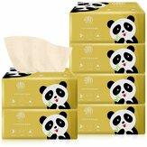 6er Packung ungebleichtes Toilettenpapier Gewebe Bambus Toilettenpapier Hypoallergenes Küchentoilettenpapier Pumpen von Toilettenpapier mit Karton