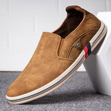 Men Microfiber Breathable Soft Sole Casual Walking Loafers