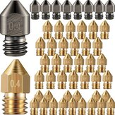 SIMAX3D® 15/34/48PCS 0.2-0.6mm MK8 Extruder Nozzle Hardened Steel Brass Nozzles for 3D Printer