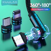 KUULAA 2.4A USB C Rotate Magnetic Data Cable LED Indicator Fast Charging Line For Huawei P40 Mate 40 Pro OnePlus 8Pro 8T
