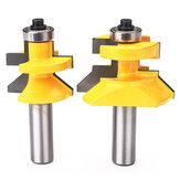 Drillpro RB34 1/2 Inch Shank Matched Tong Groove V-notch Router Bit